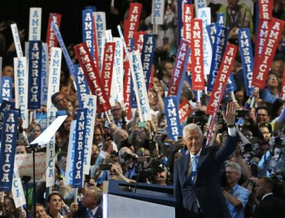 Former President Bill Clinton speaks on the second night of the Democratic National Convention in Philadelphia, Pennsylvania, U.S., July 26, 2016. REUTERS/Scott Audette