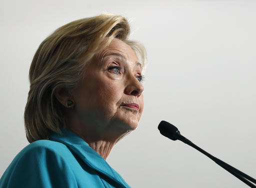 Democratic presidential candidate Hillary Clinton pauses as she speaks at a campaign event at Truckee Meadows Community College, in Reno, Nev., Thursday, Aug. 25, 2016. (AP Photo/Carolyn Kaster)