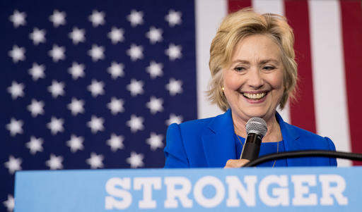 FILE - In this Thursday, Sept. 2016 file photo, Democratic presidential candidate Hillary Clinton pauses while speaking at a rally at Johnson C. Smith University, in Charlotte, N.C. House Republicans on Tuesday, Sept. 13, 2016, continue their attacks on former Secretary of State Clinton's emails by calling the tech expert who set up her private server and representatives from the company that maintained the system to testify at a congressional hearing. Bryan Pagliano, a former information resource management adviser at the State Department, is scheduled to appear Tuesday before the Oversight and Government Reform Committee. (AP Photo/Andrew Harnik, File)