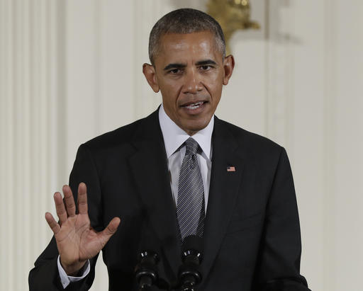 In this photo taken Sept. 22, 2016, President Barack Obama speaks in the East Room of the White House in Washington. President Barack Obama has vetoed a bill that would have allowed the families of 9/11 victims to sue the government of Saudi Arabia. The move sets Obama up for a possible first veto override by Congress. Both chambers passed the bill by voice vote. The House sent Obama the bill just before the 15th anniversary of the attacks that killed nearly 3,000 people in New York, Washington and Pennsylvania on Sept. 11, 2001. (AP Photo/Carolyn Kaster, File)