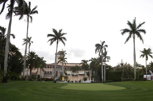 FILE - In this March 11, 2016 file photo, the Mar-A-Lago Club, owned by Republican presidential candidate Donald Trump is seen in Palm Beach, Fla.  A staple of Palm Beach's high-end philanthropy circuit, the Mar-a-Lago Club boasts rich history, an 800-seat ballroom and ocean views. But some major charities and fundraisers are now concerned with a different venue feature: the property's owner, Donald Trump.  (AP Photo/Lynne Sladky, File)