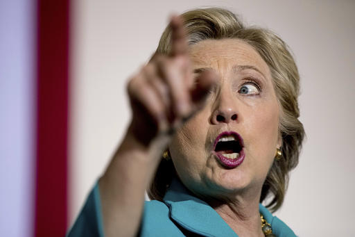 Democratic presidential candidate Hillary Clinton speaks at a rally at Dickerson Community Center in Daytona Beach, Fla., Saturday, Oct. 29, 2016. (AP Photo/Andrew Harnik)