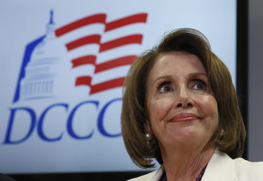 FILE - In this Nov. 8, 2016, file photo, House Minority Leader Nancy Pelosi of Calif. pauses during an election day news conference at the Democratic Congressional Campaign Committee Headquarters in Washington. Pelosi is a survivor, who enjoys enormous respect and goodwill among most Democrats, even as many of her closest allies have left Congress. She has managed to maintain unity within the diverse flock of House Democrats and is an unparalleled fundraiser for them, collecting more than $100 million in the past cycle alone. (AP Photo/Carolyn Kaster, File)