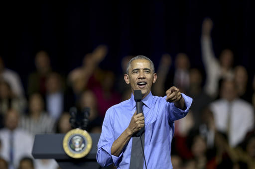 """U.S. President Barack Obama speaks at a town hall with Young Leaders of the Americas Initiative (YLAI) in Lima, Peru, Saturday, Nov. 19, 2016. Obama, speaking on the margins of an Asia-Pacific summit, said tensions over trade are likely under the new Trump administration and trade pacts may be modified. But he predicted that once the administration sees how the deals are working, """"they'll determine that it's actually good both for the United States and our trading partners."""" (AP Photo/Esteban Felix)"""