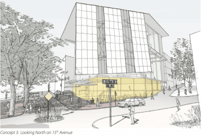 A second, western-facing solar array was originally part of the plan (Image: Design review proposal)