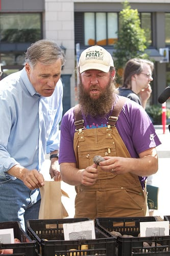 Then-candidate Inslee visited the market in 2012 (Image: CHS)