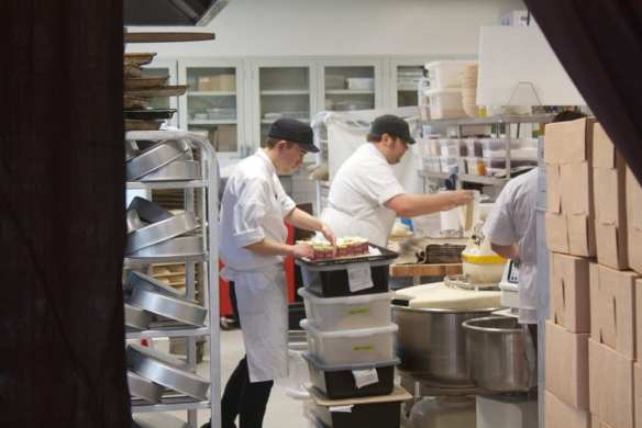 The kitchen is abuzz behind the curtain (Image: CHS)