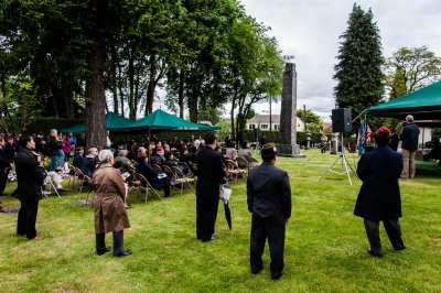 An image from the 2012 Nisei Veterans Committee Memorial Day Service at Lake View Cemetery (Image: Dave Lichterman for CHS)