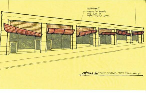 """""""One of Henry's studies for a restaurant storefront in Capitol Hill"""" (Image: Atelier Drome Architecture via Facebook)"""