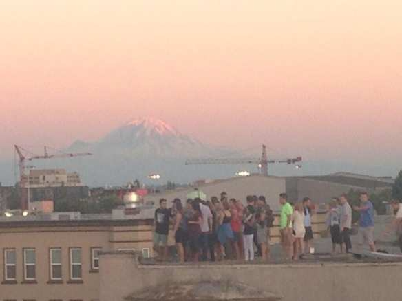 """Mt. Rainier + @macklemore fans! #whitewall"" (Image: @EricaToelle)"