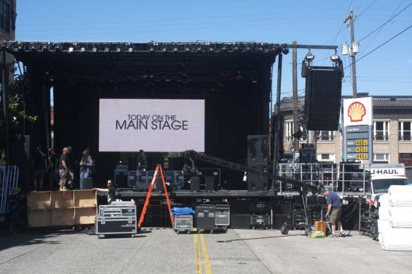 The main stage's big screen should make seeing the action easier -- even from 12th Ave (Image: CHS)