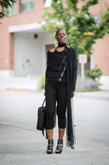 Vickie Faine scarf Seattle street style fashion
