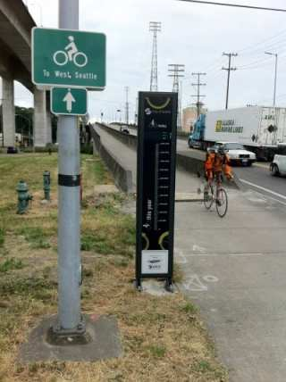 Spokane Street numbers on display -- Somebody needs to come up with $20 grand for the Broadway bikeway bike counter (Image: SDOT)