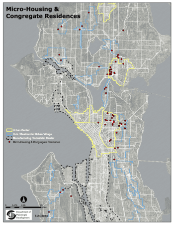 DPD's map of microhousing activity in Seattle -- there are probably a few new projects that need to be added. CHS has reported on the concentration of aPodment-type developments on Capitol Hill.