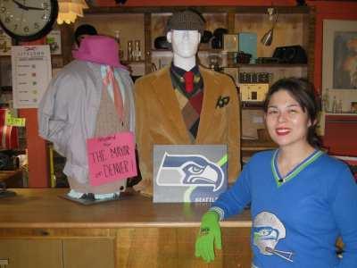 """Lifelong Thrift Store Manager Tamara Asakawa and the """"losing"""" ensembles (Image: Lifelong)"""
