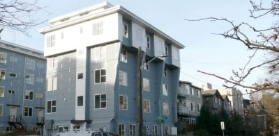 The micro-housing building at 1720 E Olive St. is the type of structure the city will seek to prevent in lowrise zones (Image: City of Seattle)