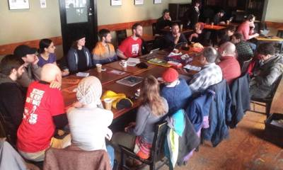 The 15 Now organization's District 3 group met for the first time on Saturday at Caffe Vita (Image via 15 Now on Facebook)