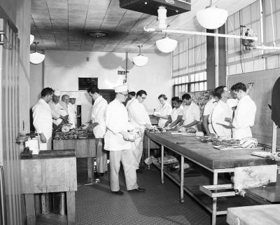 Edison School cooking class, 1955 Item 168627, City Light Photographic Negatives (Record Series 1204-01), Seattle Municipal Archives via Flickr