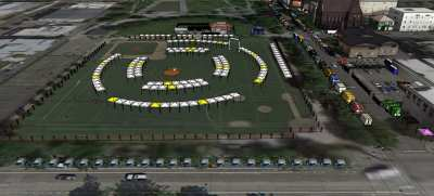 The planned layout for the new Urban Craft Uprising Village addition to the festival