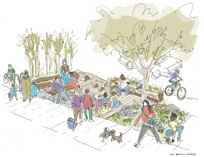 Chuck's parklet is on hold but design for a planned parklet at 25th and Union in front of Cortona is underway