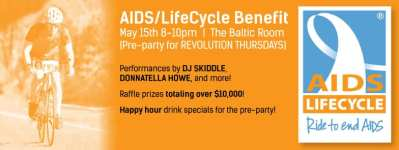 Keith McDaniel's AIDS/LifeCycle Benefit @ The Baltic Room