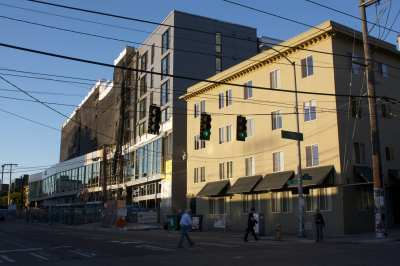 The under-construction 12th Ave Arts looms (Image: CHS)