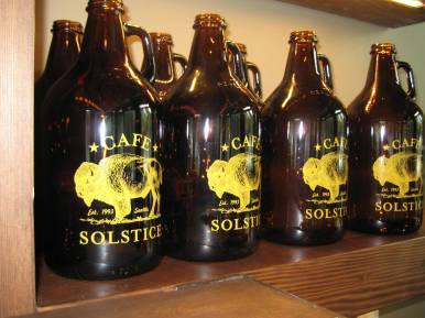 2014.06 Cafe Solstice Capitol Hill growlers 2 -- JO