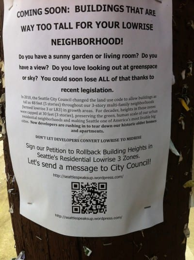 Flyers like this one popped up around Capitol Hill starting in 2013