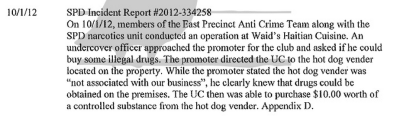 In 2012, a series of drug busts were orchestrated by SPD at Waid's. A full account of the violations as documented by the City of Seattle is included on this CHS post