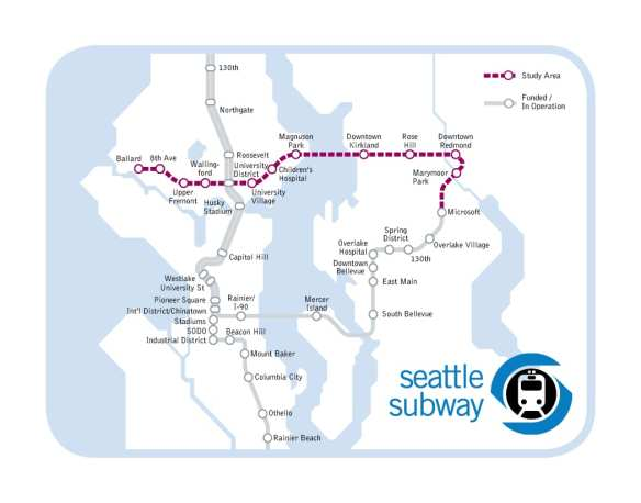 The Purple Line proposal (Image: Seattle Subway)