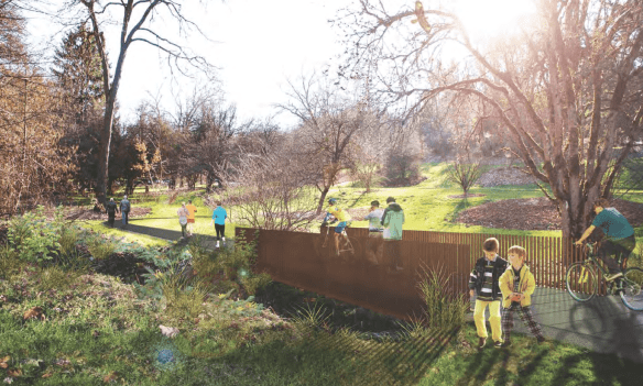 Rendering of the future trail (Images: City of Seattle)