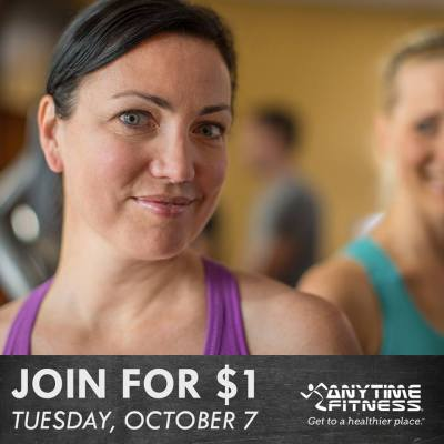 Anytime Fitness Annual '1 Day Sale' Join for $1! @ Let's All Get To A Healthier Place!