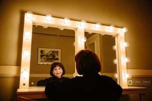 Madhur Jaffrey in the dressing room