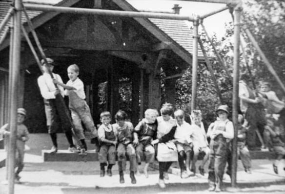 """""""Children at Broadway Playfield, 1918"""" (Image: Seattle Municipal Archives via Flickr)"""