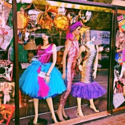 A window dipslay at Out of the Closet Brooklyn (Image: Out of the Closet)
