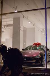 The window at the 12th Ave Ferrari dealership was once again a victim of the anarchists