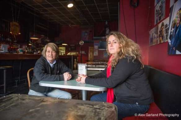Wildrose owners Shelley Brothers and Martha Manning inside the longest running lesbian bar. (Photo: Alex Garland)