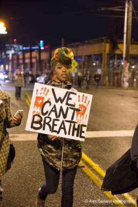 A protester at Thursday night's march (Image: CHS)