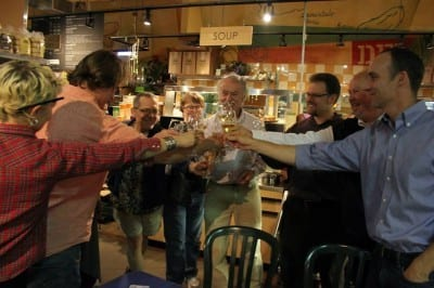 Celebrations in 2013 as the co-op signed a new five-year lease (Image: CHS)