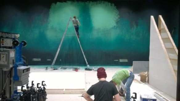 The Sprawl set gets some paint inside 12th Ave Arts (Image: WET)