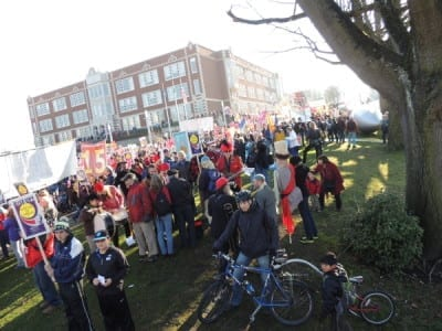 2014's march had a decided focus on economic justice the push for a $15 minimum wage gained steam (Image: CHS)