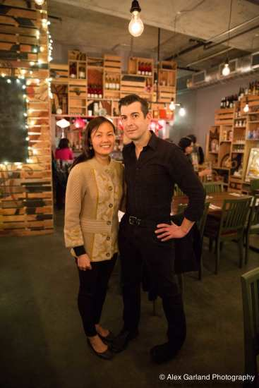 Happy Nue restaurant owners Uyen Nguyen and Chris Cvetkovich