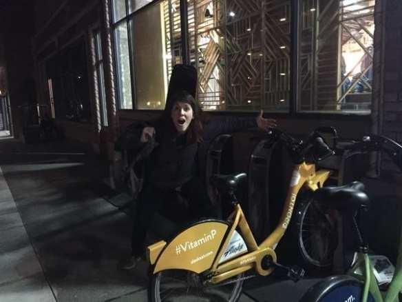 """Twice?? I've seen the Yellow Unicorn TWICE?! #blessed #VitaminP @CyclePronto #seattle"" -- @nottinghamtoday"