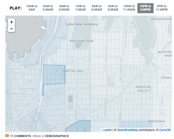 """You should sleep late man, it's just much easier on your constitution"" -- I-5 Shores -- Check out the live What time does your neighborhood leave for work? map here"
