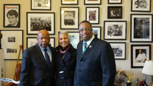 """From Gossett's Facebook page -- February 11th: """"It was an honor to once again spend some time with Congressman John Lewis, a """"Living Legend"""" in America's struggle to end segregation and create the """"Beloved Community"""" of Dr. King. """""""