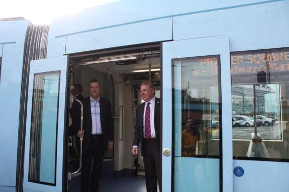 Mayor Murray and King County Council and Sound Transit board rep Joe McDermott take a ride (Images: CHS)