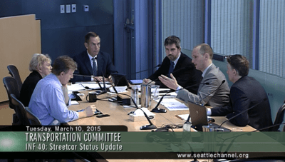 Kubly, right, speaks Tuesday morning at the City Council transportation committee briefing