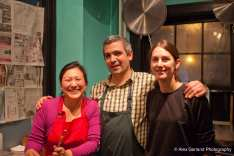 Burzell, Wilson, and Kathleen Khoo, left, a Malaysian chef and food writer who helped open the E Olive Way walk-up in 2013 (Images: Alex Garland for CHS)