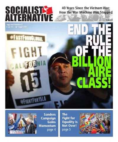 The Socialist Alternative newspaper