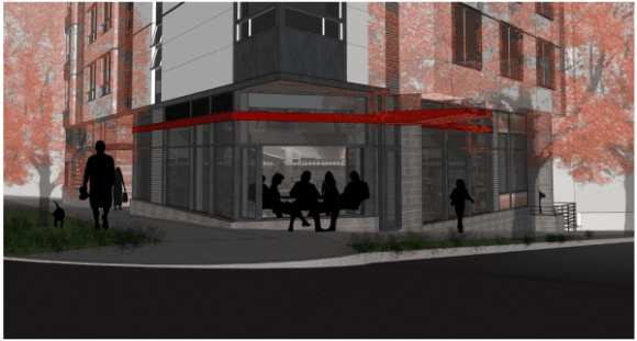 Rendering of the Mad Flats restaurant space